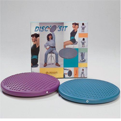 Imagen de Abilitations Disco O Sit asientos hinchables y de cojín para el equilibrio con protuberancias táctiles - 15 pulgadas - Colors May Vary