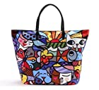 Romero Britto Blue Tote Bag, Icons (Garden)