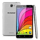 Lenovo S856 - Smartphone Libre 4G Android 4.4 (Quad Core, Ram 1GB, Rom 8GB, 5.5'' Pantalla 1280*720 Pixels, Cámara 8Mp, Dual SIM, Wifi, Gps) (Plateado)