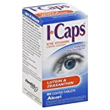 I Caps, Eye Vitamin & Mineral Supplement, Lutein & Zeaxanthin, Coated Tablets 60 tablets