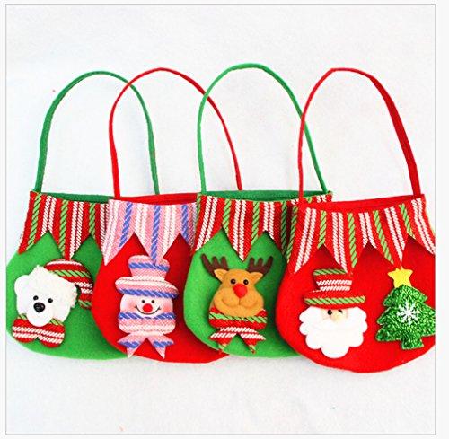 Christmas Candy Bags, Homecube Christmas Gift Bags Portable Santa
