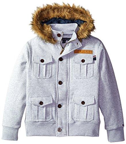 Tommy Hilfiger Big Boys' Fleece Jacket with Fur
