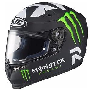 HJC Helmets Ben Spies Replica Monster II Graphic RPHA 10 Full Face Helmet (Matte Black, Medium)