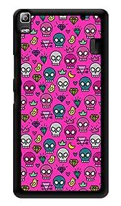 "Humor Gang Skulls Can Be Cute Too Printed Designer Mobile Back Cover For ""Lenovo A7000 - Lenovo A7000 Plus - Lenovo A7000 Turbo - Lenovo k3 note"" (3D, Glossy, Premium Quality Snap On Case)"