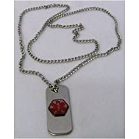"Emerg Alert Medical Alert Emergency ID Necklace and Wallet Card - ""Coumadin"" from API"