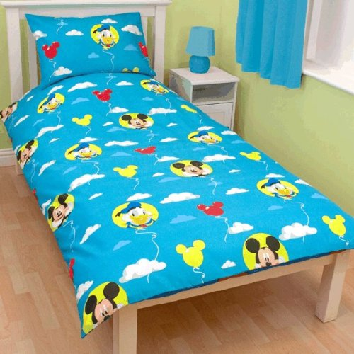 ajaakehomong disney mickey mouse puzzle bettw sche 135x200 48x74 cm. Black Bedroom Furniture Sets. Home Design Ideas