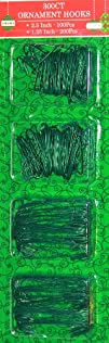 300 Count Holiday Ornament Hooks Green