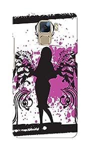 KnapCase Silhouette Girl Designer 3D Printed Case Cover For Huwaei Honor 7