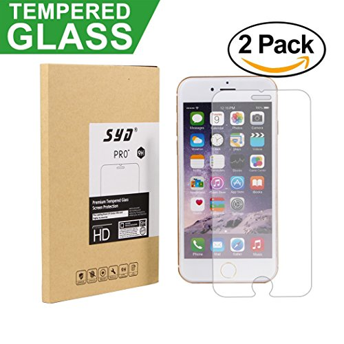 For Iphone 6s Tempered Glass Screen Protector for Apple Iphone 6, Iphone 6s 2016 (2-pack)