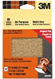 3M 99222ES 4.5-Inch by 5.5-Inch Clip-On Palm Sander Sheets, Coarse grit, 12-pack