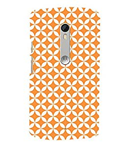 Orange Pentagon 3D Hard Polycarbonate Designer Back Case Cover for Motoroal Moto X Force