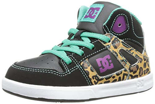 Dc Rebound Se Ul Skate Shoe (Toddler/Big Kid),Leopard Print,10 M Us Toddler front-836031