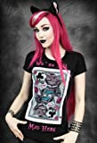 Restyle Punk Disney We're All Mad Here Alice In Wonderland Ladies T Shirt Top Gothic Emo