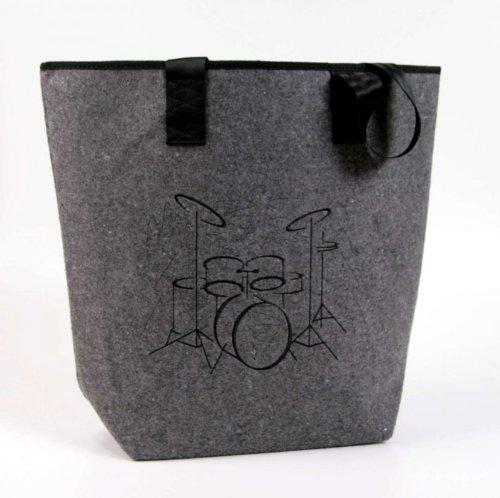 Filztasche-mit-Motiv-Schlagzeug-schwarz