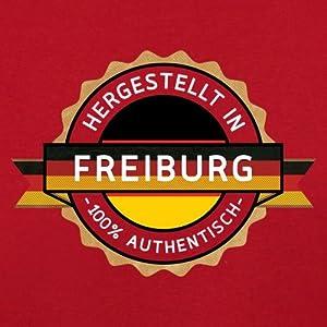 Hergestellt In FREIBURG 100% Authentisch - Kinder T-Shirt - 10 Farben - 3-14 Jahre