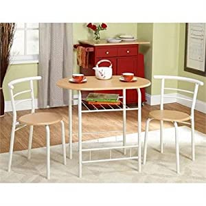 Amazon com bistro set 3 piece for small space in kitchen dining