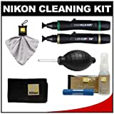Nikon Advanced Digital Camera with Interchangeable Lens Cleaning Kit with Microfiber Cloth + Fluid + Moist Cloths + Lenspens + Spudz + Anti-Fog + Blower for 1 Series V1 & J1