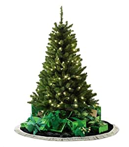 Color Switch Plus 4.5' Dual Color LED Pre-lit Aurora Pine Christmas Tree