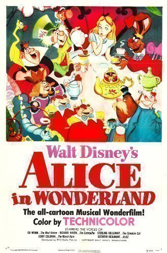 Alice In Wonderland Poster Film Vintage Misure A1 A2 A3 A4 - A1