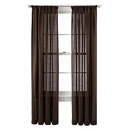 Royal Velvet SADLER Rod Pocket Curtain Panel A Pair of 2 Panels (Fine Chocolate, 50\