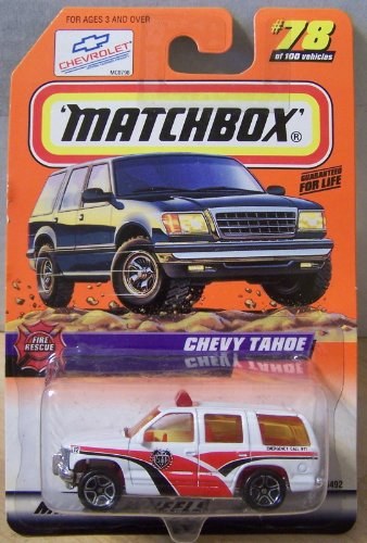 Matchbox Fire Rescue Chevy Tahoe White/Red #78