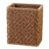 Lamont Home Apollo Snag Proof Wicker Wastebasket, Natural