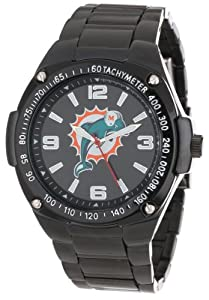 Game Time Unisex NFL-WAR-MIA Warrior Miami Dolphins Analog 3-Hand Watch by Game Time