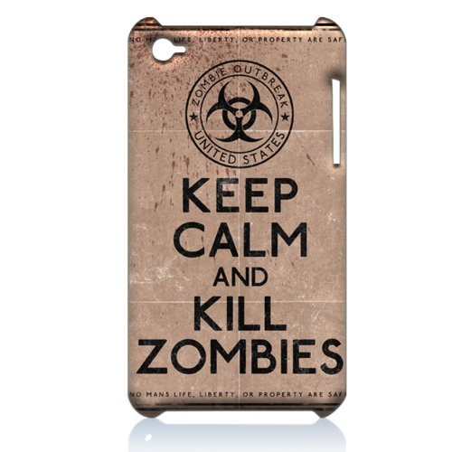 Keep Calm and Kill Zombies Special Edition (Zombies) Hard Case Cover Skin for Ipod Touch 4 Generation