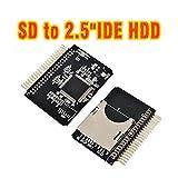 "Apollo23 Secure Digital 44 Pin 2.5"" Male IDE to SD Card Adapter Amiga 600 1200"