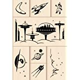 Outer Space Wood Stamp Set