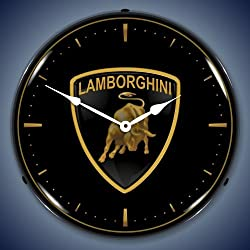 Collectable Sign and Clock 710069a 14 Lamborghini Lighted Clock