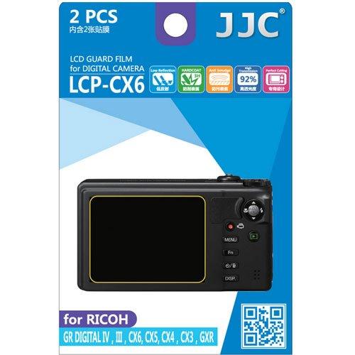JJC LCP-CX6 ultra hard polycarbonate LCD Film Screen Protector For RICOH CX6 CX5 CX4 GXR GR Digital IV III(2 Kits) (Ricoh Gr Digital Iii compare prices)