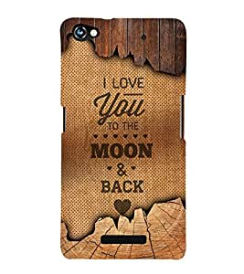 I Love You Message 3D Hard Polycarbonate Designer Back Case Cover for Micromax Canvas Hue 2 A316