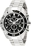 Invicta 12443 Men's Pro Diver Black Dial Stainless Steel Chronograph Watch