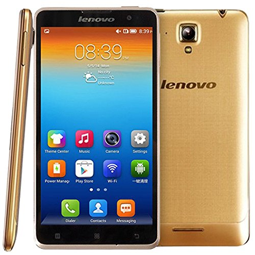 Lenovo S8 S898T+ Unlocked Smartphone MTK6592 Octa Core RAM 2GB ROM 16GB 5.3 Inch Android 4.2 IPS Screen 1280x720 13MP GSM Network (Golden)