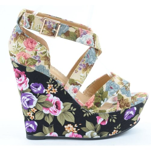 Funky Wedge Sandals front-999024