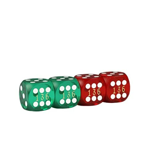 Lion Jeux & Gifts Europe 34340314mm Précision Backgammon Dés (Lot de 4)