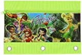 Children's Licensed 3 Ring Zippered Pencil Pouch with Grommets (Flitterflie Fairies)