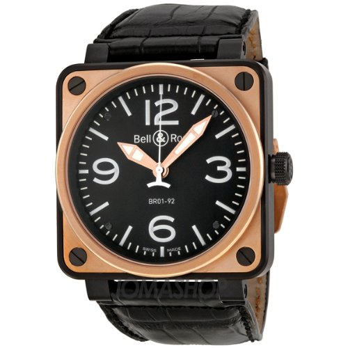 Bell and Ross BR 01 Automatic Black Dial Mens Watch BR0192-BICOLOR