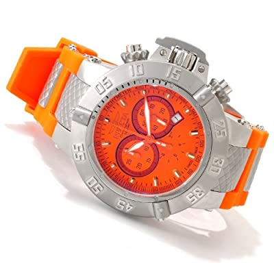 Invicta Men's 1378 Subaqua Noma III Chronograph Orange Dial Watch