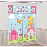 Amscan 670538Woodland Kit de decoración mural, diseño de princesas de