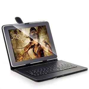 Often Cas portable couverture de peau avec le clavier USB Micro Etui en Cuir PU pour 9.7 pouces Tablet PC