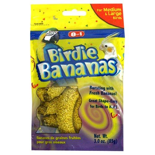 Cheap 8in1 Birdie Bananas -Medium & Large Birds, 3-Ounce (C2307)