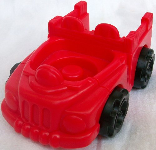 Fisher Price Little People Vintage Replacement Red Car Toy - 1