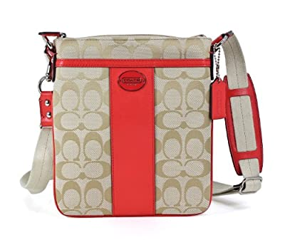 Best Cheap Deal for Coach COACH 48452-SVB3V Coach Legacy Signature Swingpack Crossbody  Beige Red by COACH - Free 2 Day Shipping Available