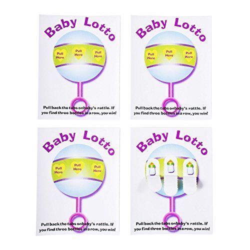 Baby Shower Lottery Raffle Lotto Game Cards for Party Activities, Lucky Prize Favors, Decoration, Ideas 4.25