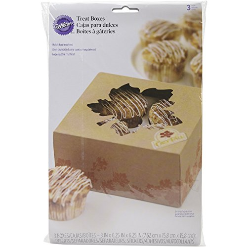 Wilton 415-3188 Cozy Fall 4 Cavity Treat Box, Assorted (See Through Box Packaging compare prices)