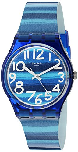 Swatch Unisex GN237 Blue Plastic Watch 0