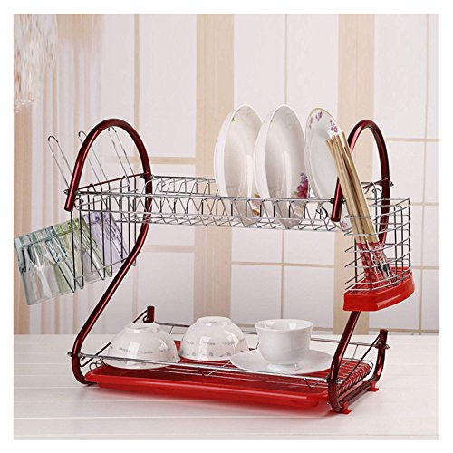 Best 2 Tier Dish Rack with Tray