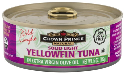 Crown Prince Natural Solid Light Yellowfin Tuna in Extra Virgin Olive Oil, 5-Ounce Cans... by Crown Prince
